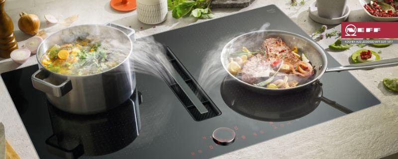 Integrierter Kochfeldabzug Von Neff Elektrogerate Im Raum